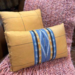 Pendleton Pacific City Blue & Plaid Throw Pillow
